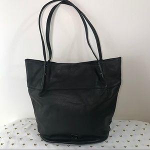 Kooba Black Leather Bucket Bag Like New